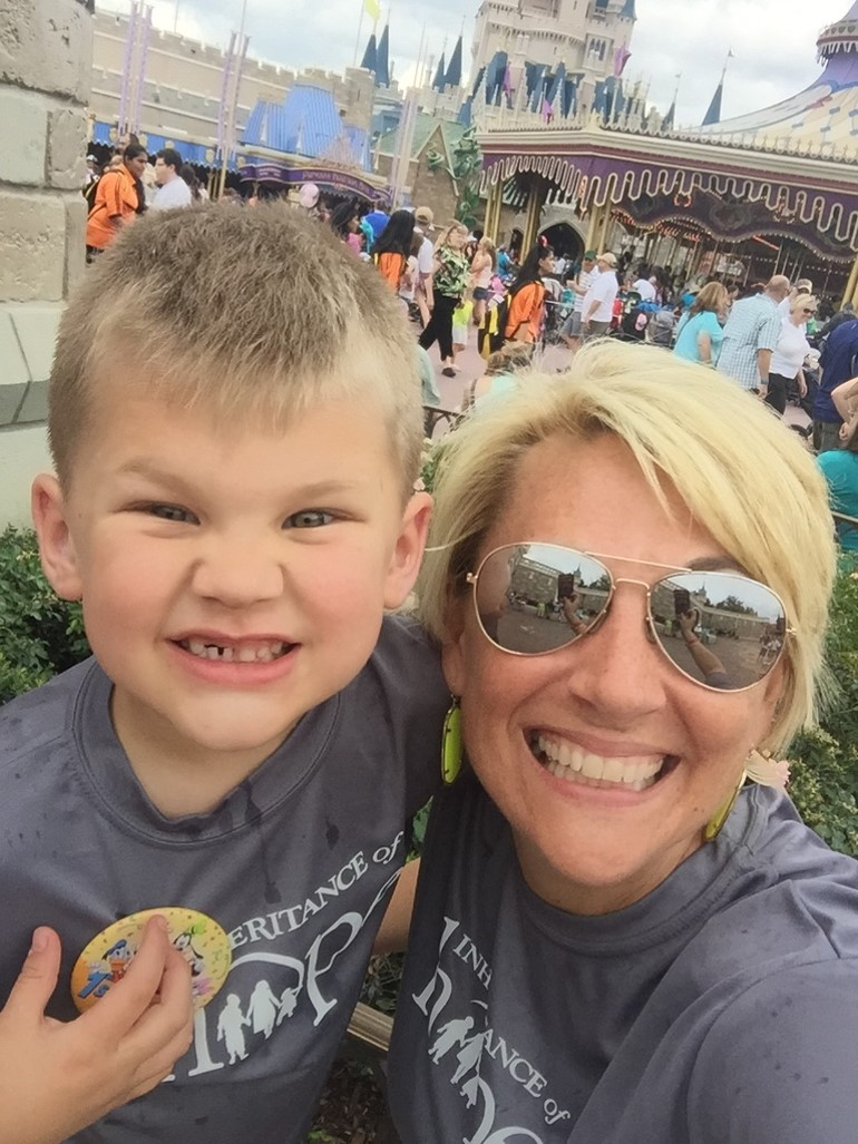 Holley and her youngest son Colby, age 4 here, at a 2015 Legacy Retreat