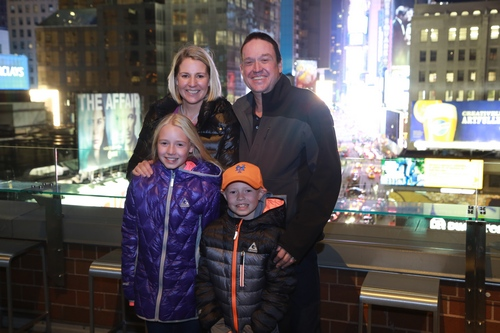 The O'Gorman Family in Times Square